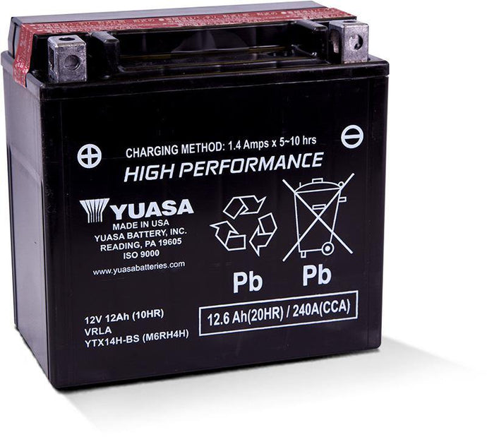 Yuasa YTX14H Factory Activated Maintenance Free 12V Battery YUAM7RH4H
