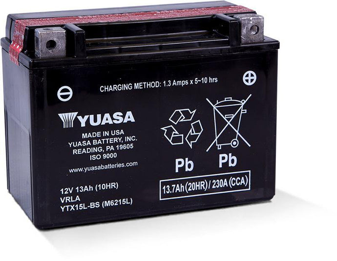 Yuasa YTX15L-BS Maintenance Free 12V Battery YUAM6215L