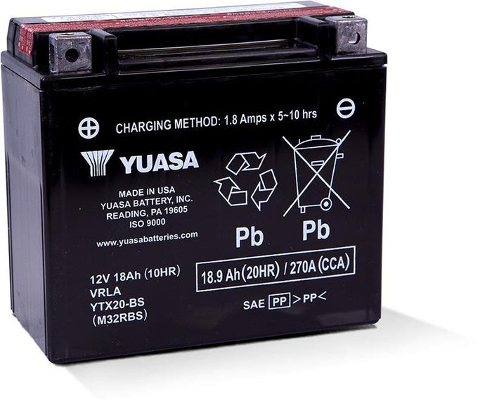 Yuasa YTX20-BS Maintenance Free 12V Battery YUAM32RBS