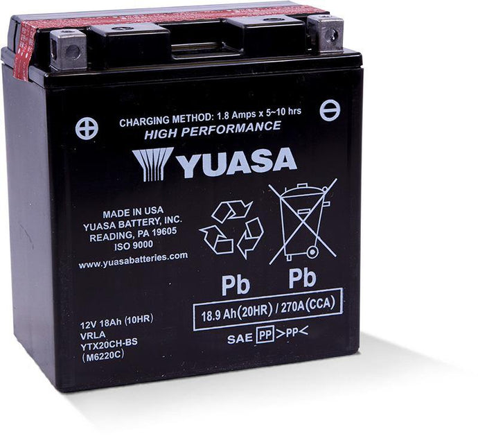 Yuasa YTX20CH-BS High Performance MF Battery YUAM6220C