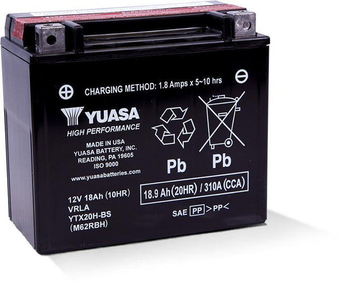 Yuasa YTX20H-BS High Performance MF Battery YUAM62RBH