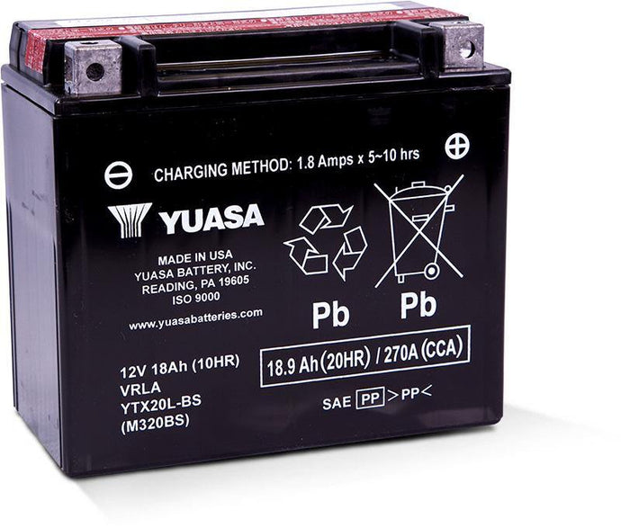 Yuasa YTX20L-BS Maintenance Free 12V Battery YUAM320BS
