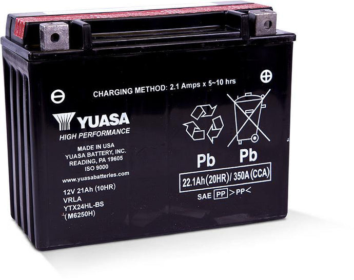 Yuasa YTX24HL-BS High Performance MF Battery YUAM6250H
