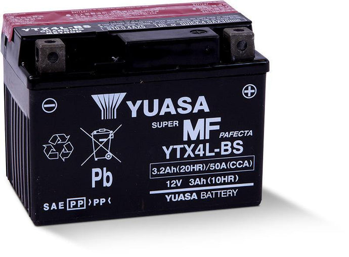 Yuasa YTX4L-BS Maintenance Free 12V Battery YUAM62X4B