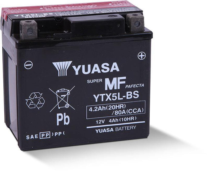 Yuasa YTX5L-BS Maintenance Free 12V Battery YUAM32X5B