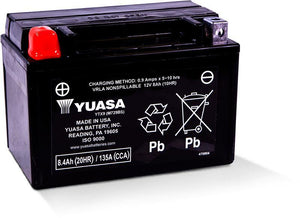 Yuasa YTX9 Factory Activated Maintenance Free 12V Battery YUAM729BS