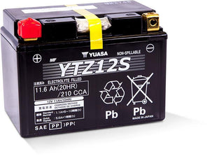 Yuasa YTZ12S Factory Activated Maintenance Free 12 Volt Battery