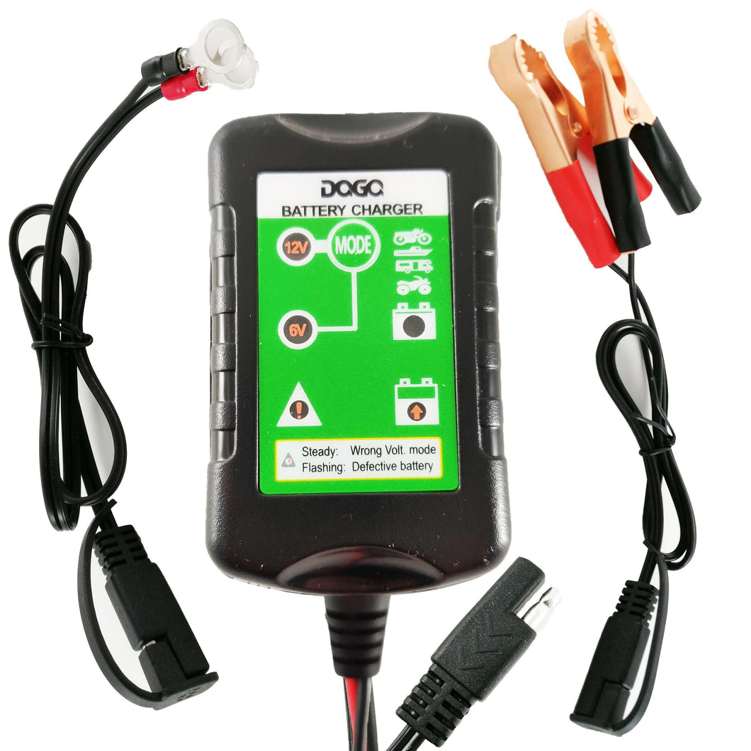 DAGA 1.5Amp Battery Charger Automatic Maintainer Tender for Motorcycles, ATV & UTV and more