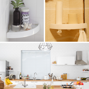 Motrendy Corner Storage Holder Shelves