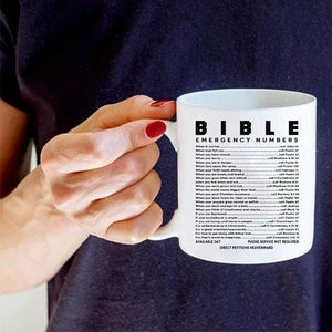 Bible Emergency Numbers Mug