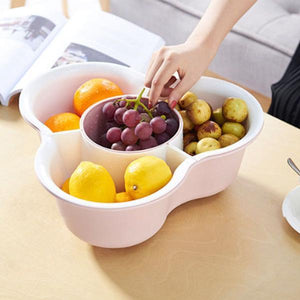Double Deck Drain Fruit Platter