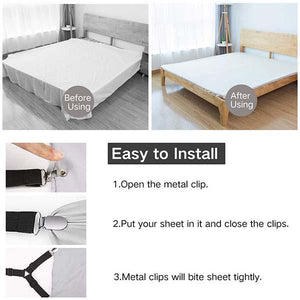 4pcs Elastic Bed Sheet Buckle
