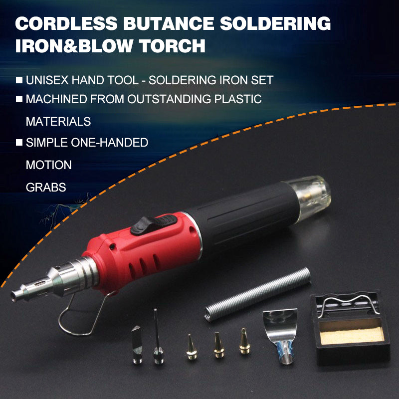 Cordless Butane Soldering Iron & Blow Torch