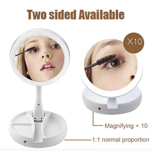 Foldable Double-sided Vanity Mirror