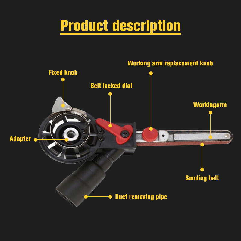 Belt Sander Angle Grinder Attachment