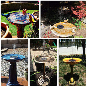 Solar Powered Bird Fountain