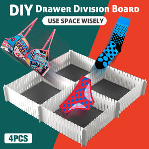 DIY Drawer Division Board (4Pcs)