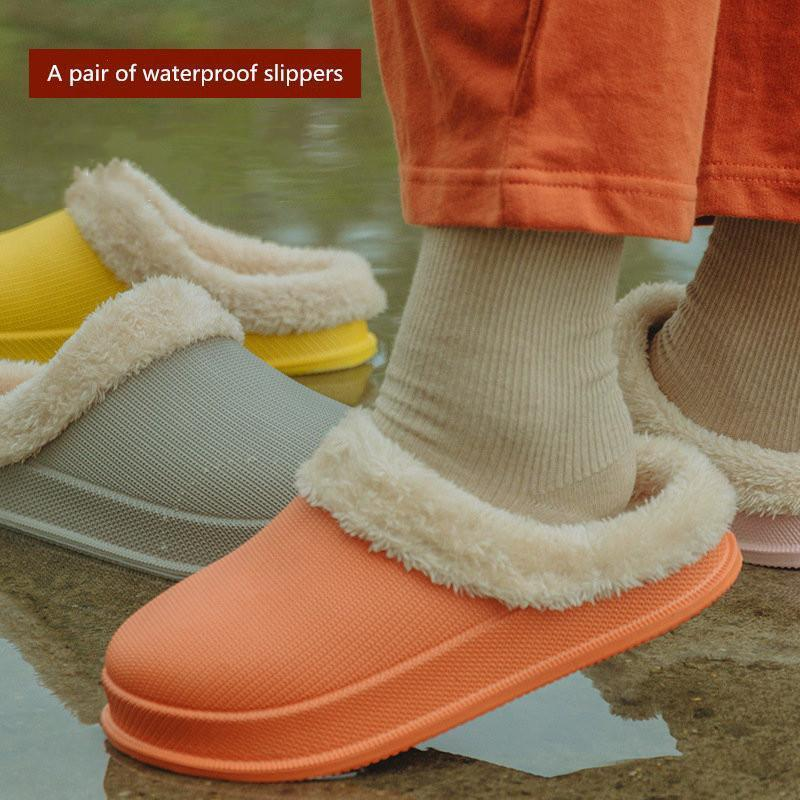 Waterproof Cotton Slippers