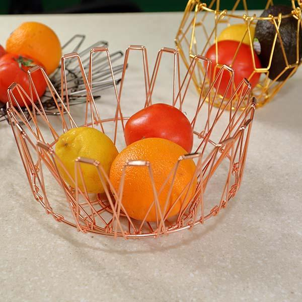Collapsible Stainless Steel Wire Basket
