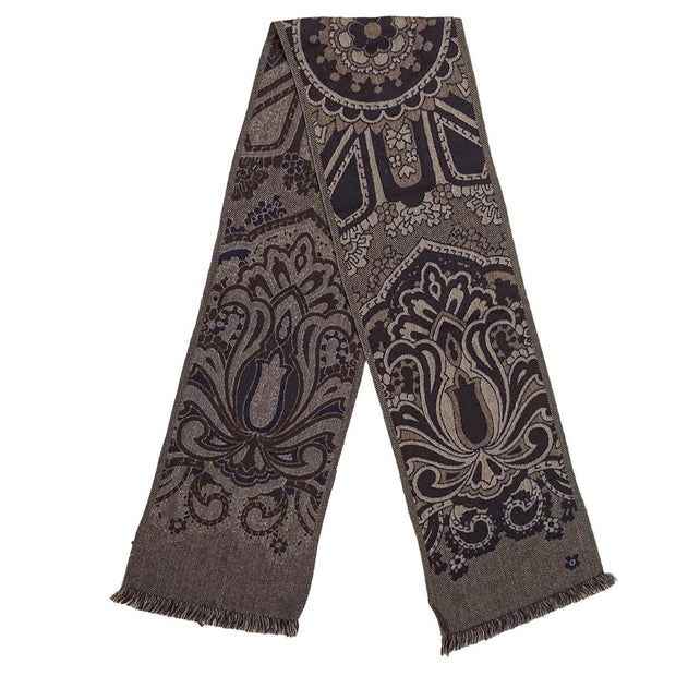 Grey vintage design winter scarf - Fumagalli 1891