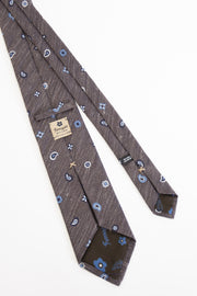rear of the tie handmade in italy-retro della cravatta fatta a mano in italia