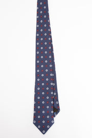 tie made in italy blue white and red- cravatta fatta in italia blu bianco e rosso