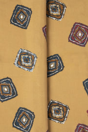 Golden Yellow Ultra Soft Silk & Cotton Diamonds Pocket Square-Fumagalli 1891
