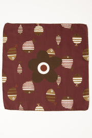 Burgundy Ultra Soft Silk & Cotton Fish Print Pocket Square-Fumagalli 1891