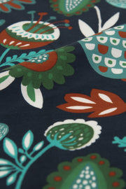 Blue Ultra Soft Silk & Cotton Plants Pocket Square