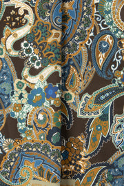 Brown Ultra Soft Silk & Cotton Abstract Paisley Pocket Square-Fumagalli 1891