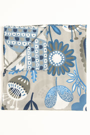 Pearl Grey Ultra Soft Silk & Cotton Plants Bandana Foulard-Fumagalli 1891