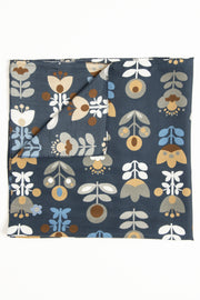 Blue Ultra Soft Silk & Cotton Tulip Bandana Foulard-Fumagalli 1891