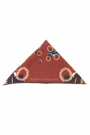 Burgundy Pure italian Wool Abstract Pocket Square-Fumagalli 1891