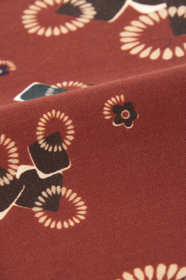 Burgundy Pure italian Wool Abstract Pocket Square