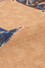 Light Brown Pure Italian Wool Vintage Pocket Square - Fumagalli 1891
