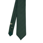 Green plain reps pure silk unlined handmade tie - Fumagalli 1891