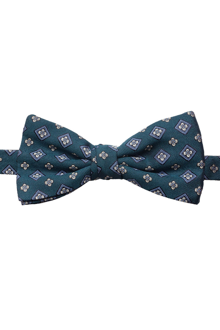 diamonds emerald bow tie in pure selected silk