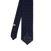 Blue paisley pattern grenadine silk hand made tie - Fumagalli 1891