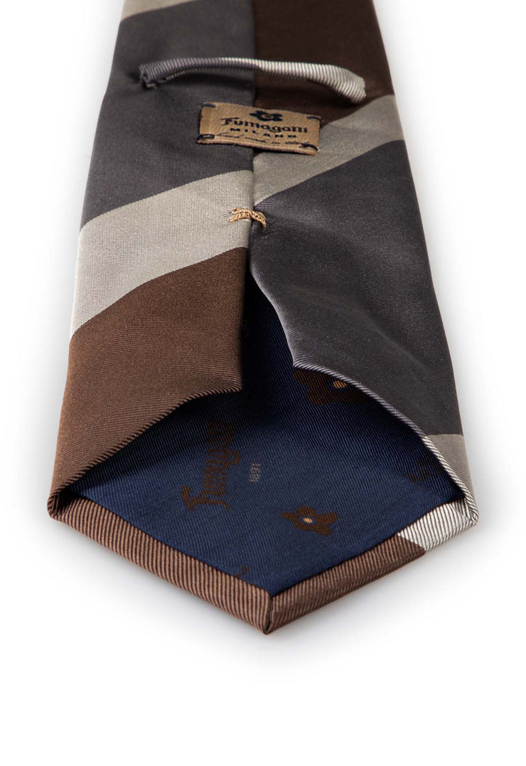 blue lining with fumagalli brown label