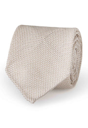 white grenadine silk tie with garza fina