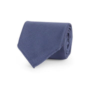 Denim blue plain panama tie