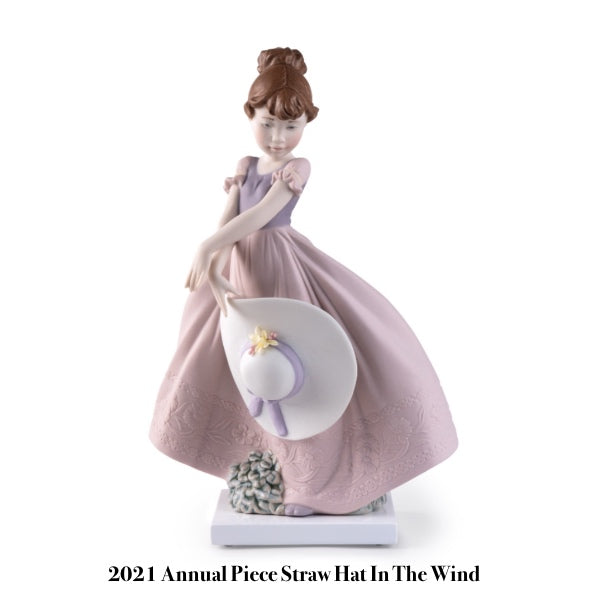 Lladro Straw Hat In The Wind 2021 Annual Piece