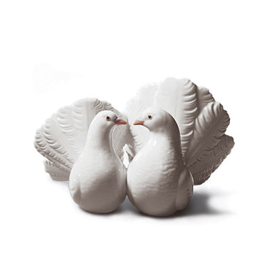 Lladro Porcelain Couple Of Doves Figurine Figurines Lladro