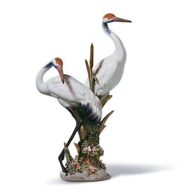 Lladro Porcelain Courting Cranes Figurine Figurines Lladro