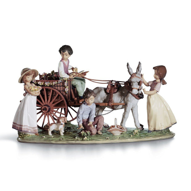 Lladro Porcelain Enchanted Outing Figurine LE 3000 Figurines Lladro