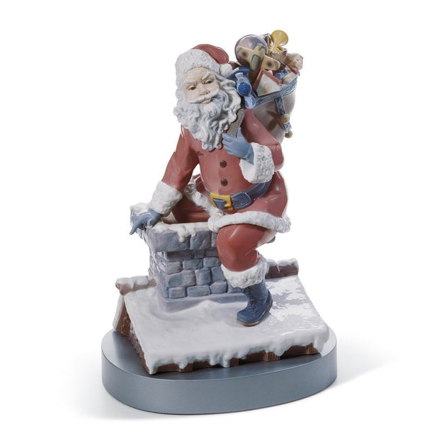 Lladro Porcelain Down The Chimney Figurine LE 1500 Figurines Lladro