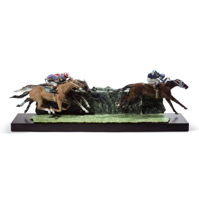 Lladro Porcelain At The Derby Figurine LE 1500 Figurines Lladro