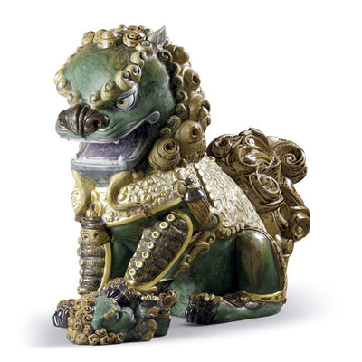 Lladro Porcelain Oriental Lioness, Green Figurine LE 1500 Figurines Lladro