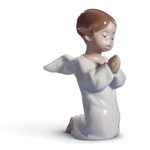 Lladro Porcelain Angel Praying Figurine Figurines Lladro