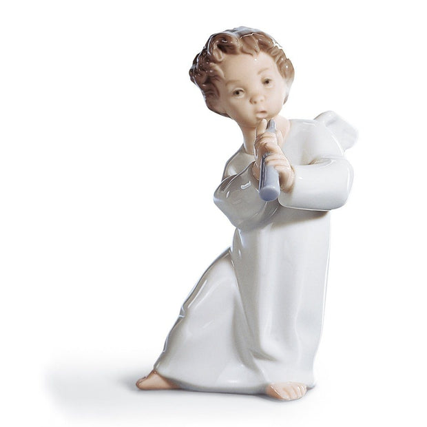 Lladro Porcelain Angel With Flute Figurine Figurines Lladro